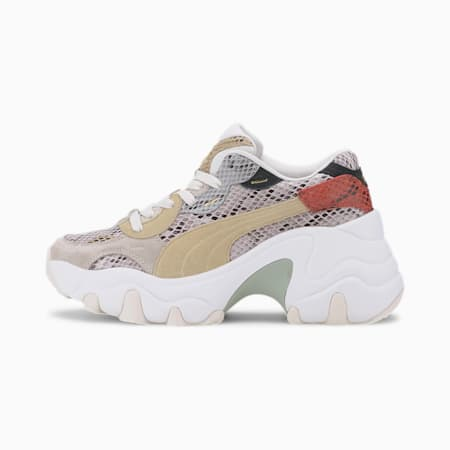 Pulsar Wedge Disco Wild Women's Sneakers, Marshmallow-Pale Khaki, small