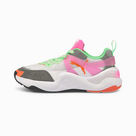 Rise Tulle Women's Sneakers, Luminous Pink-Puma White, small
