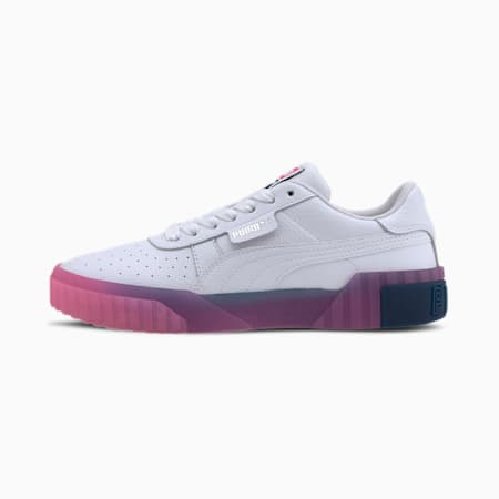 Cali Gradient Women's Sneakers, Puma White-Luminous Pink, small