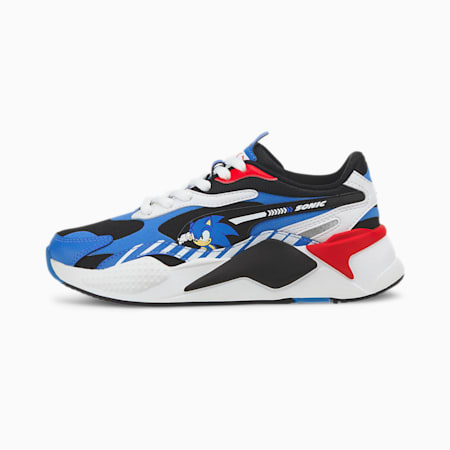 PUMA x SEGA RS-X³ Sonic Youth Sneaker, Palace Blue-High Risk Red, small