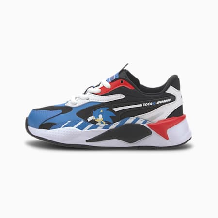 PUMA x SONIC RS-X³ Little Kids' Shoes, Palace Blue-High Risk Red, small