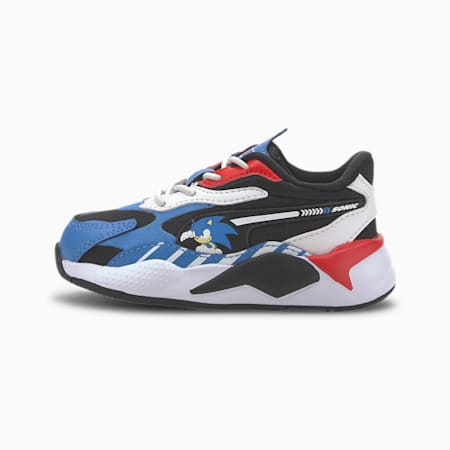 PUMA x SONIC RS-X³ Toddler Shoes, Palace Blue-High Risk Red, small