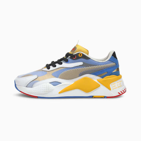 PUMA x SONIC RS-X Color Youth Trainers, Puma White-Golden Rod, small