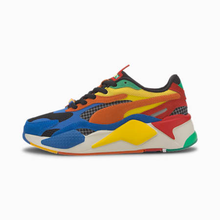 PUMA x RUBIK'S RS-X Youth Trainers, Palace Blue-High Risk Red, small