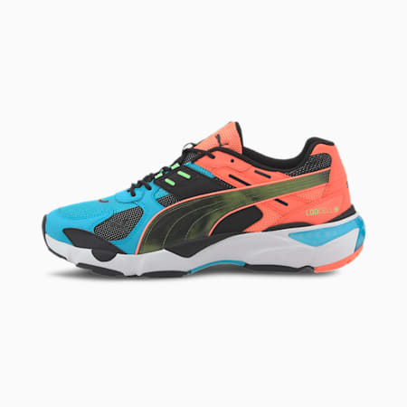 LQDCELL Extol Old Circuits Men's Sneakers, Puma Black-Blue Atoll, small