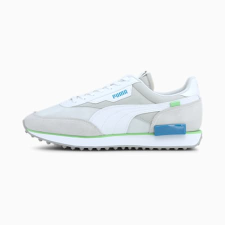 Future Rider Trainers, Puma White-Gray Violet, small