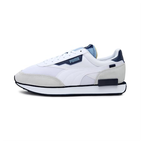 Future Rider Trainers, Puma White-Forever Blue, small-IND