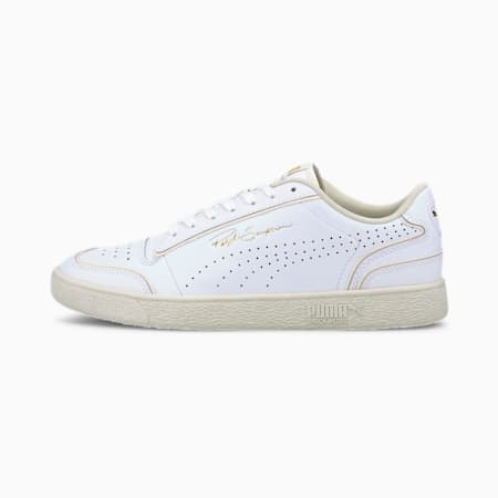 Ralph Sampson Lo Perforated Outline Trainers, Puma White-Whisper White, small