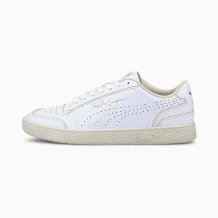 Ralph Sampson Lo Perforated Outline Trainers, Puma White-Whisper White, small-GBR