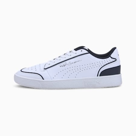 Ralph Sampson Lo Perforated Outline Trainers, Puma White-Peacoat, small