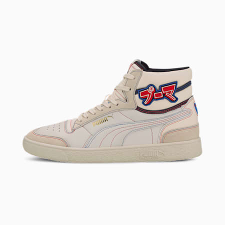 Ralph Sampson Mid Japanorama Sneakers, Whspr Wht-P Blk-High RiskRed, small-IND