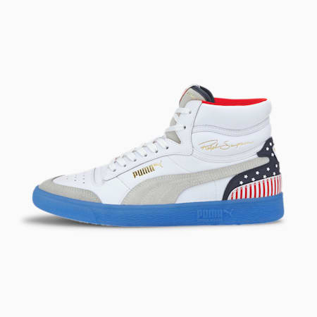 Ralph Sampson Mid 4th of July sportschoenen, P Wht-Peacoat-High Risk Red, small