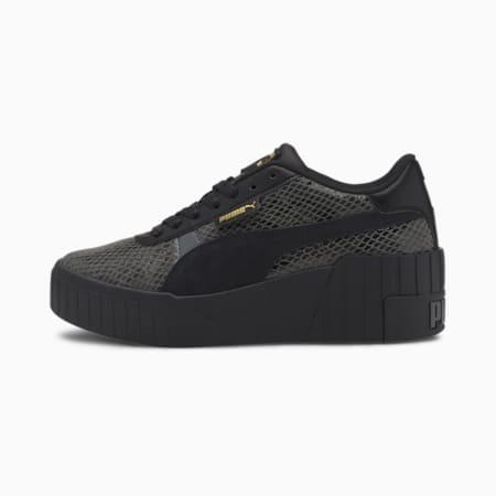 Cali Wedge Snake Women's Sneakers, Dark Shadow-Puma Black, small