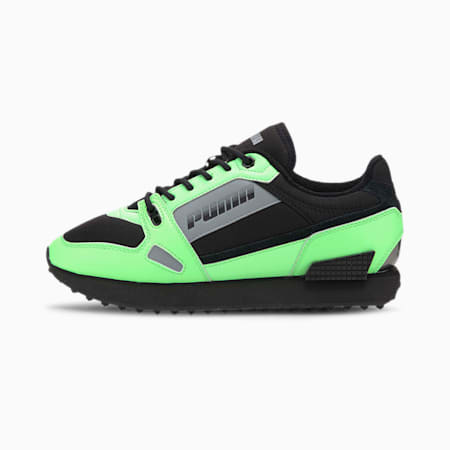 Mile Rider Bright Peaks Trainers, Elektro Green-Puma Black, small