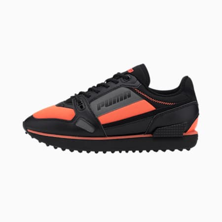 Mile Rider Bright Peaks Trainers, Ultra Orange-Puma Black, small