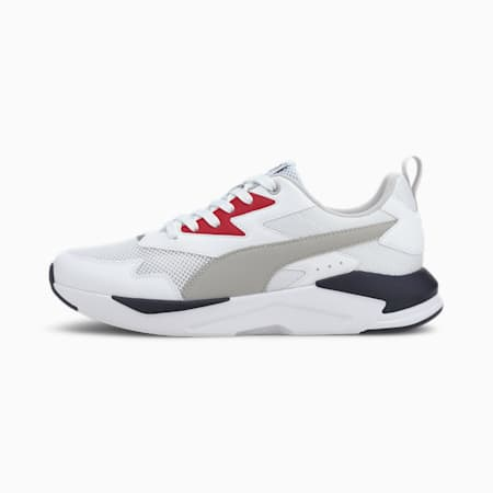 X-Ray Lite Trainers, Puma White-Gray Violet-High Risk Red-Puma New Navy, small