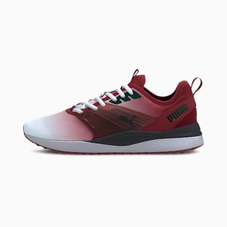 Pacer Next FFWD SoftFoam+ Gradient Shoes, Red Dahlia-Puma Black, small-IND