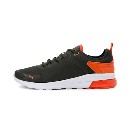 Electron Street Era SoftFoam+ Shoes, Forest Night-Carrot-White, small-IND