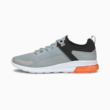 Electron Street Era SoftFoam+ Shoes, Quarry-Puma Black-Carrot, small-IND