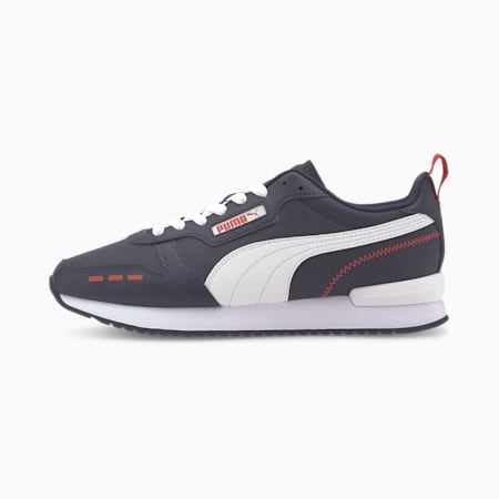 R78 Trainers, Peacoat-Puma White, small