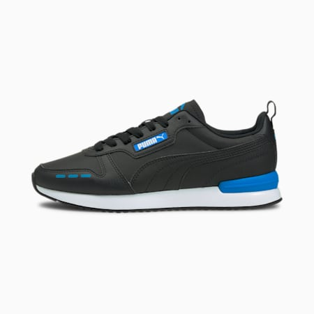 R78 Trainers, Puma Black-Dresden Blue, small