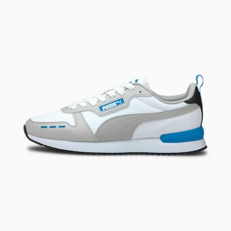 R78 Trainers, Puma White-Dresden Blue, small