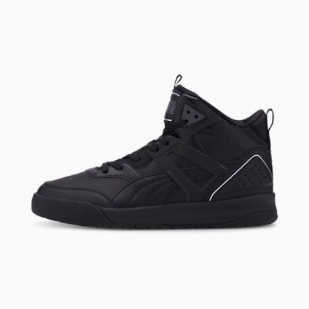 Zapatos deportivos de caña media PUMA Backcourt para hombre, Puma Black-Puma Black-Dark Shadow-Puma Silver, pequeño