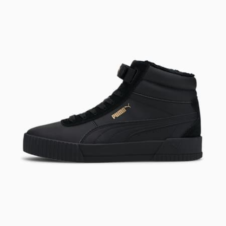 Carina Mid Winterised Damen Sneaker, Puma Black-Puma Black, small