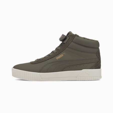 Carina Mid Winterised Women's Sneakers, Burnt Olive-Burnt Olive, small-IND