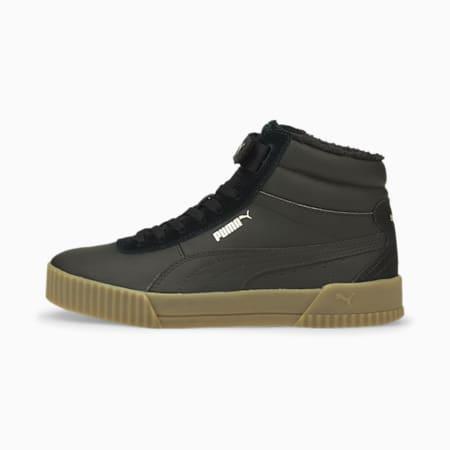 Zapatos deportivos caña media Carina Winterized para mujer, Puma Black-Puma Black-Gum, pequeño