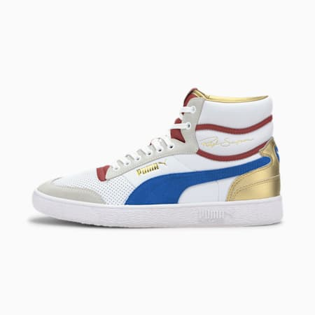Ralph Sampson Royal Mid-Top Sneakers, P Wht-Lapis Blue-Red Dahlia, small-IND