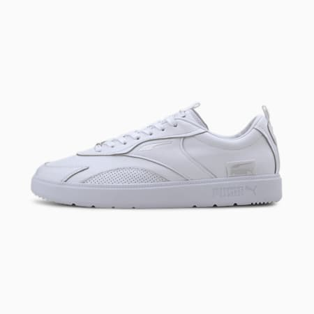 Oslo Pro Clean Leather Trainers, Puma White, small