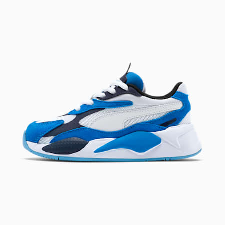 RS-X³ Super Little Kids' Sneakers, P.White-P. White-Palace Blue, small