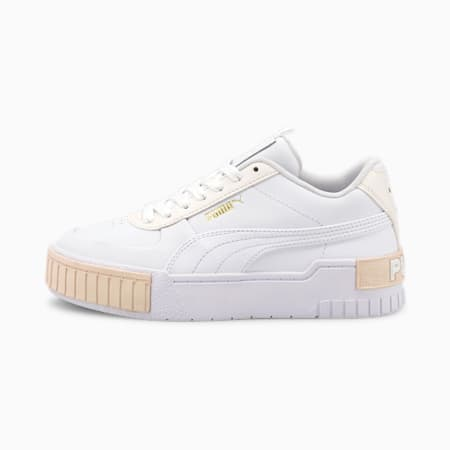 Cali Sport Youth Trainers, Puma White-Whisper White, small