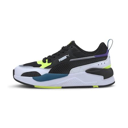 X-Ray 2 Square SoftFoam+ Kid's Shoes, Puma Black-Puma Black-Puma White-Fizzy Yellow-Digi-blue, small-IND
