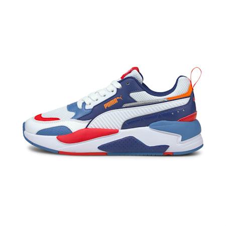 X-Ray 2 Square SoftFoam+ Kid's Shoes, Puma White-Puma White-Vibrant Orange-Poppy Red, small-IND