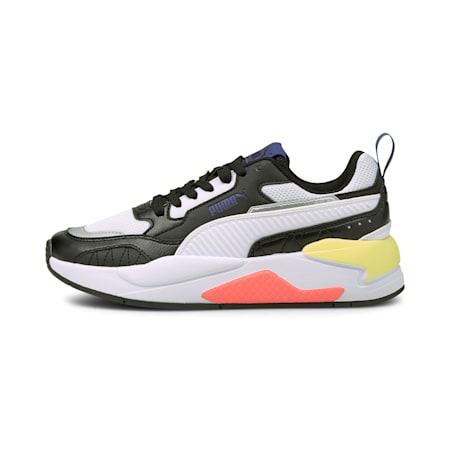 X-Ray 2 Square SoftFoam+ Kid's Shoes, Puma Black-Puma White-Yellow Pear-Elektro Blue, small-IND
