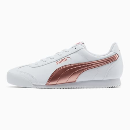 PUMA Turino Metallic Women's Sneakers, Puma White-Rose Gold, small