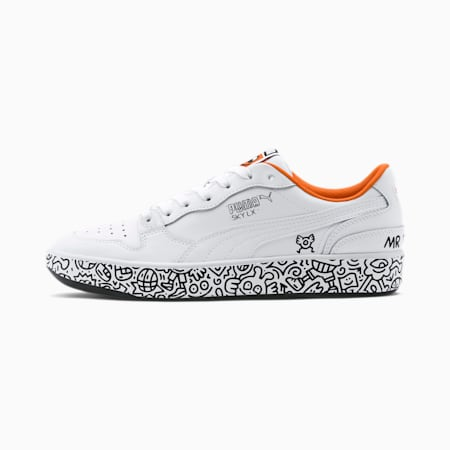 PUMA x MR DOODLE Sky LX Low Trainers, Puma White-Puma Black, small-SEA