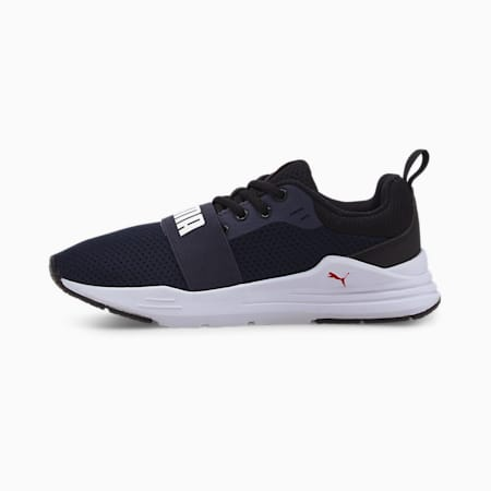 PUMA Wired Run IMEVA Kid's Shoes, Peacoat-Puma White, small-IND
