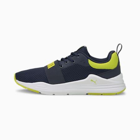 Wired Run sneakers voor jongeren, Peacoat-Sulphur Spring, small