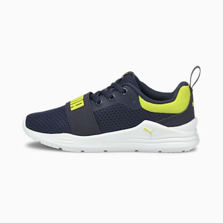 Wired Run Kinder Sneaker, Peacoat-Sulphur Spring, small
