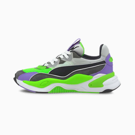 RS-2K Internet Exploring Sneakers JR, Dark Shadow-Fluo Green, small