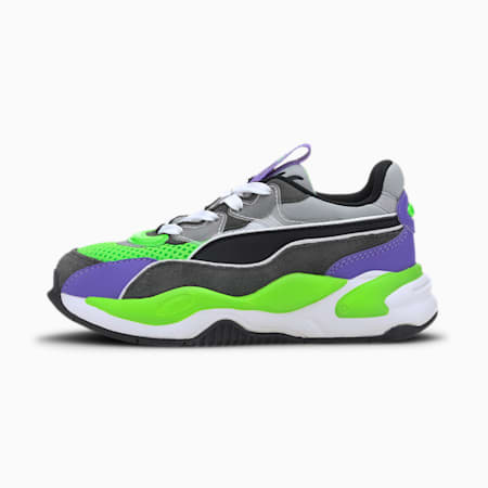 RS-2K Internet Exploring Kids' Trainers, Dark Shadow-Fluo Green, small