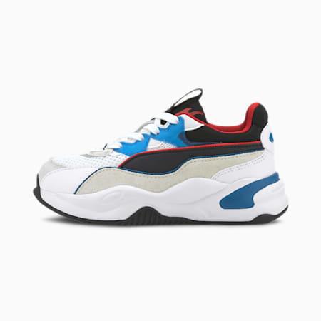 RS-2K Internet Exploring Little Kids' Shoes, Puma White-Lapis Blue, small