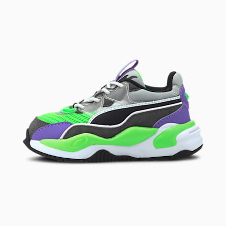 RS-2K Internet Exploring Babies' Trainers, Dark Shadow-Fluo Green, small