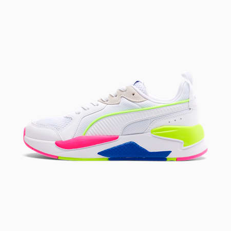 Zapatos deportivosX-RAYpara mujer, White-White-Blue-Yellow-Pink, pequeño