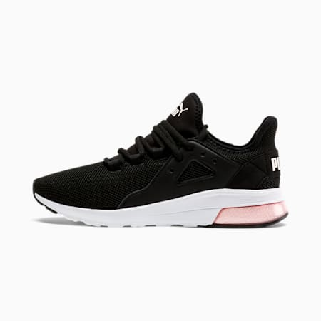 Zapatos deportivos Electron Street para mujer, Puma Black-Rosewater-White, pequeño