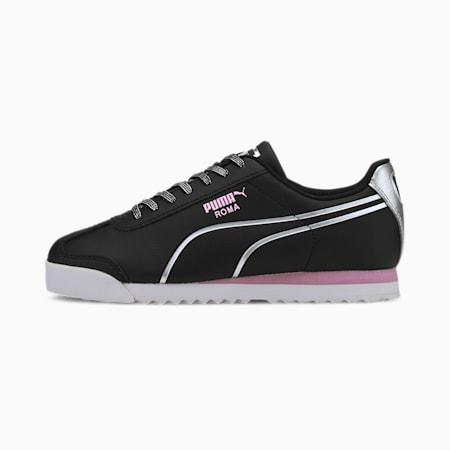Roma Shine Sneakers JR, Puma Black-Puma Silver, small