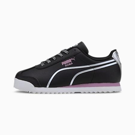 Roma Shine Little Kids' Shoes, Puma Black-Puma Silver, small